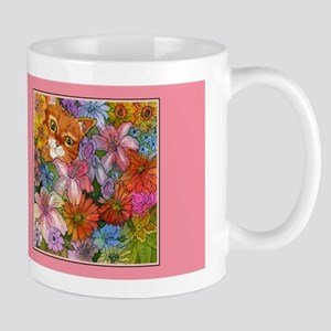 Cat Among the Flowers Mug