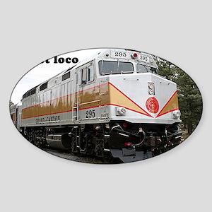 Just loco: railway locomotive, Gran Sticker (Oval)