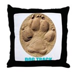 Dog Track Throw Pillow