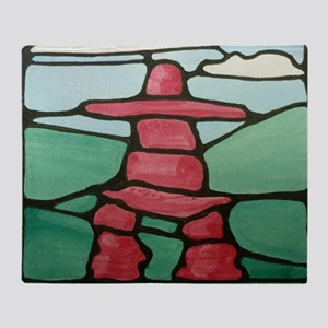 Inukshuk Throw Blanket