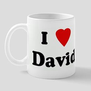 I Love David Mug
