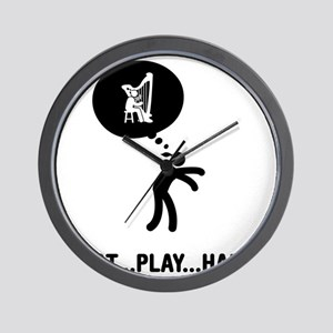 Harp-Player-C Wall Clock