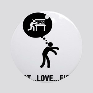 Fish-Lover-C Round Ornament