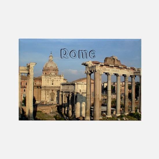 Rome_5.5x7.5_FlatCard_RomanForum Rectangle Magnet
