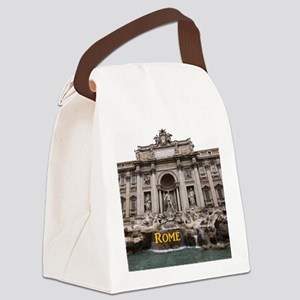 Rome_11x9_TreviFountain Canvas Lunch Bag