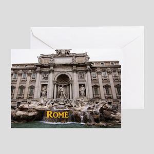 Rome_11x9_TreviFountain Greeting Card