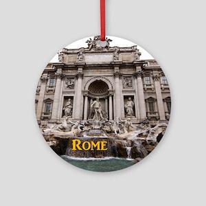 Rome_11x9_TreviFountain Round Ornament