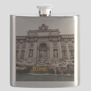 Rome_11x9_TreviFountain Flask