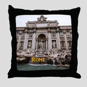 Rome_11x9_TreviFountain Throw Pillow