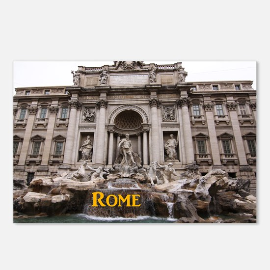 Rome_11x9_TreviFountain Postcards (Package of 8)
