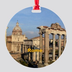 Rome_6x6_RomanForum Round Ornament