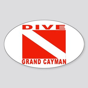 Dive Grand Cayman Oval Sticker