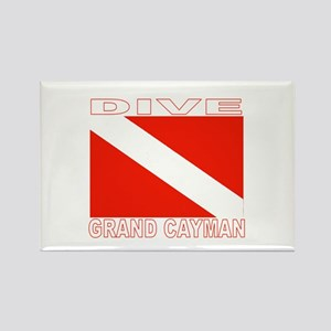 Dive Grand Cayman Rectangle Magnet