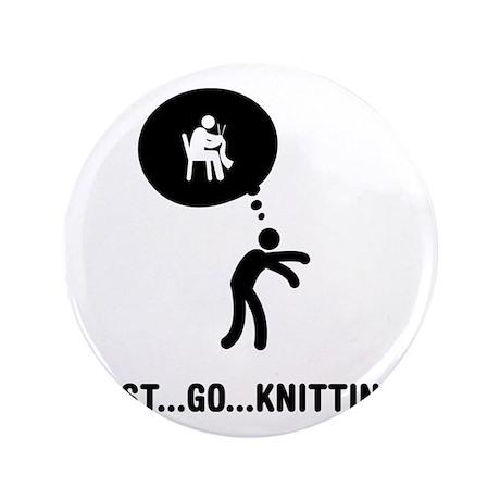 "Knitting-C 3.5"" Button"