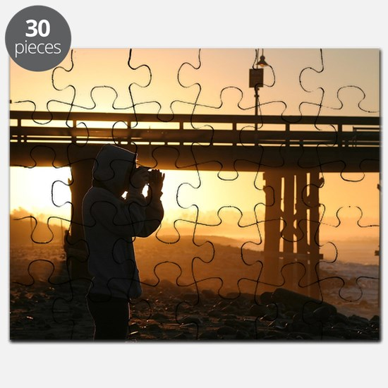Photographer At Sunset Puzzle