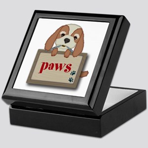 Customisable Cute Puppy Dog with Signboard Keepsak