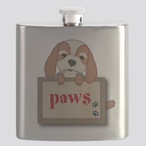 Customisable Cute Puppy Dog with Signboard Flask
