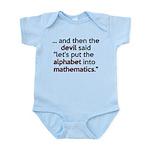 Mathematics Has The Alphabet Infant Bodysuit