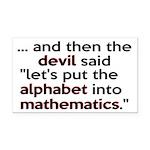 Mathematics Has The Alphabet Rectangle Car Magnet