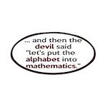 Mathematics Has The Alphabet Patches