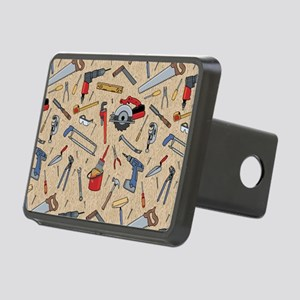 Work Tools on Wood Rectangular Hitch Cover