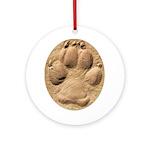 Dog Track Plain Ornament (Round)