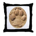 Dog Track Plain Throw Pillow