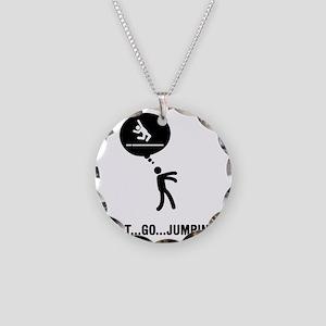 Long-Jump-C Necklace Circle Charm