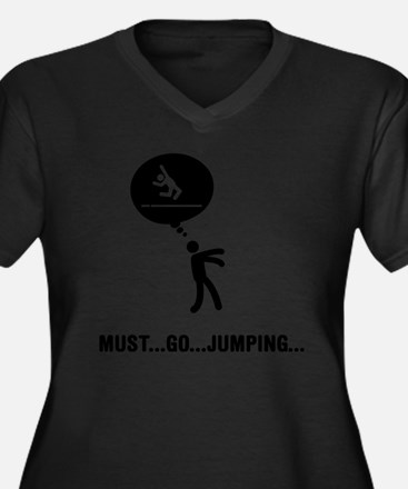 Long-Jump-C Women's Plus Size Dark V-Neck T-Shirt