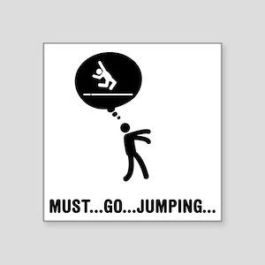 "Long-Jump-C Square Sticker 3"" x 3"""