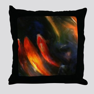 Painted Fish Throw Pillow