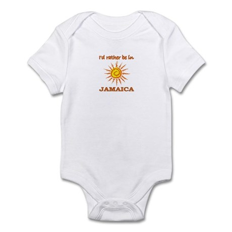 I'd Rather Be In Jamaica Infant Bodysuit