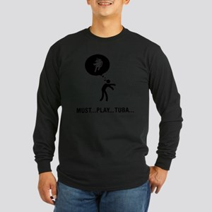 Marching-Band---Tuba-C Long Sleeve Dark T-Shirt