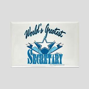 Greatest Secretary Rectangle Magnet