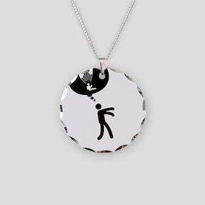 Paragliding-C Necklace Circle Charm