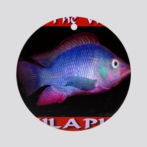 Feed The World Tilapia Round Ornament