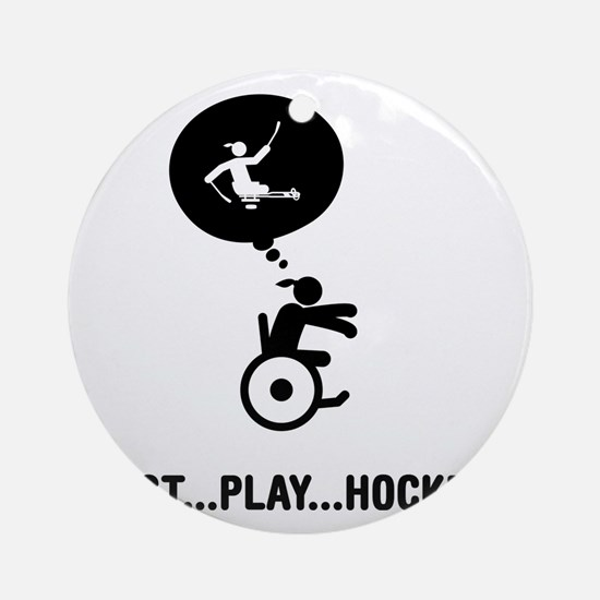 Physically-Challenge-Sled-Hockey-A Round Ornament