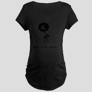 Physically-Challenge-Sled-H Maternity Dark T-Shirt