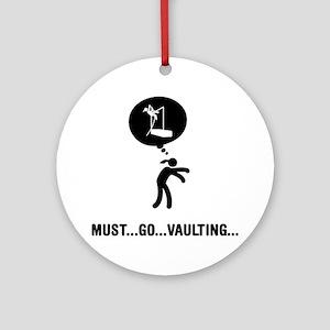Pole-Vault-A Round Ornament