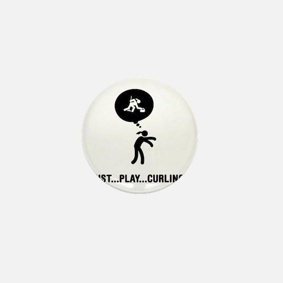 Curling-A Mini Button