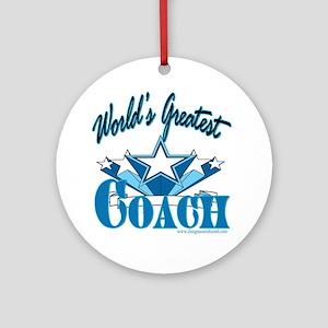 Greatest Coach Ornament (Round)