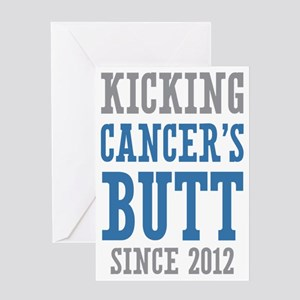Cancers Butt Since 2012 Greeting Card