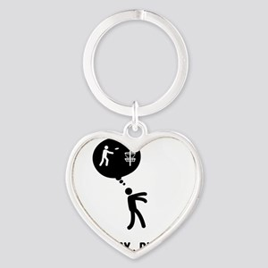 Disc-Golf-C Heart Keychain