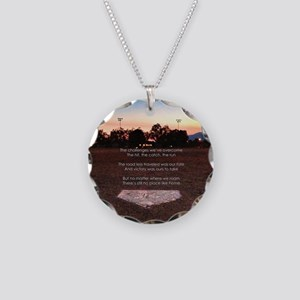Theres No Place Like Home Necklace Circle Charm