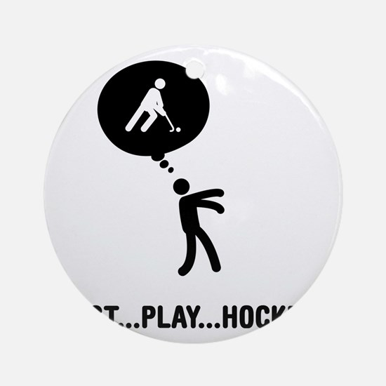 Field-Hockey-C Round Ornament