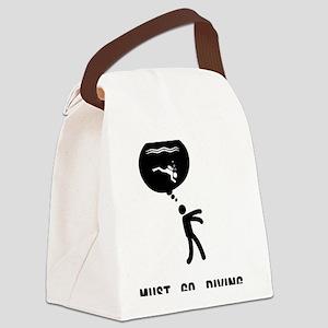 Scuba-Diving-C Canvas Lunch Bag