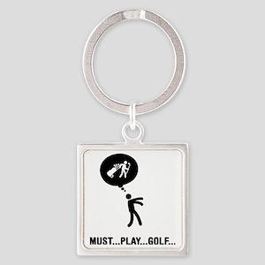 Golf-02-C Square Keychain