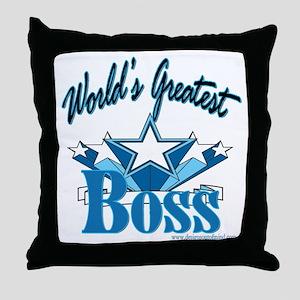 Greatest Boss Throw Pillow