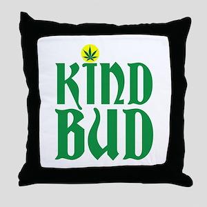 KIND BUD - POT LEAF SUN Throw Pillow