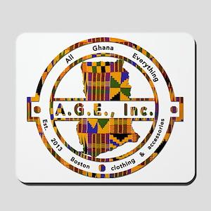 A.G.E., Inc Kente print Logo Mousepad